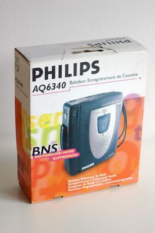 Gravador Leitor Portatil Philips AQ6340 + 3 K7 virgens