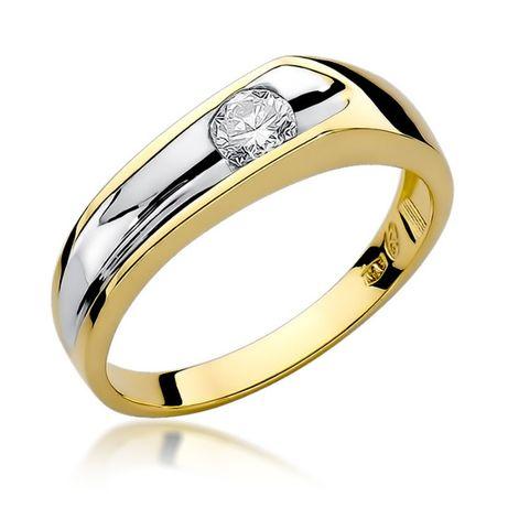 Złoty pierścionek 585 z brylantem 0,250ct