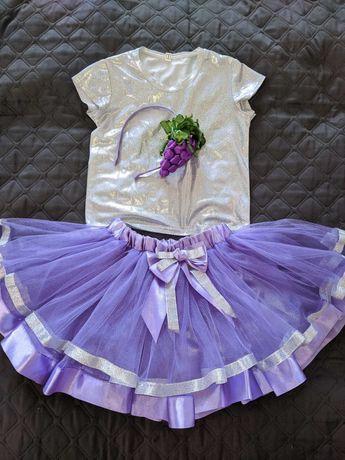 карнавальный костюм винограда на девочку 3-5 лет
