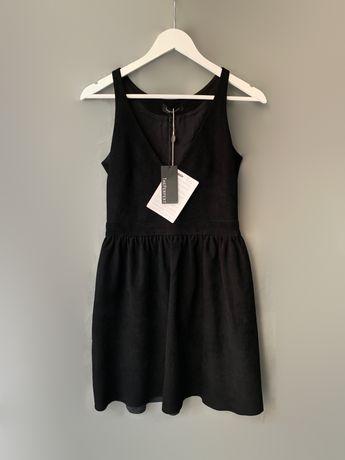 Theperfext платье натуральная кожа ( замша) италия sandro maje zadig