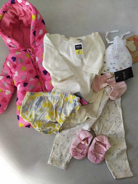 Zestaw dla dziewczynki 0-3 miesiące 56-62- 68 cm