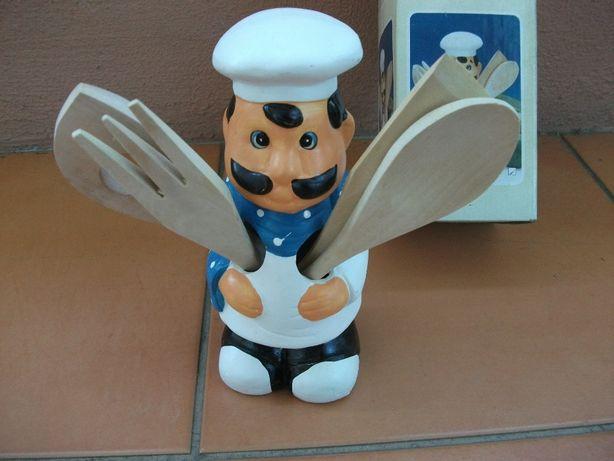 Suporte cerâmico para utensílios de cozinha (Como NOVO)