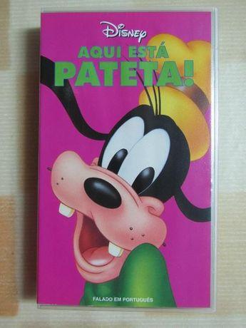 2 cassetes VHS - Desenhos Animados Disney, falados em Português