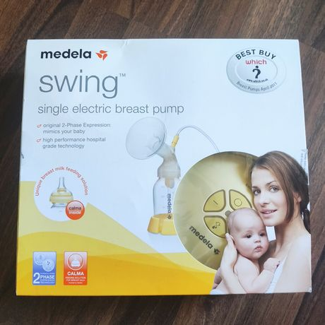 Электрический молокоотсос Medela Swing (новый) + смарт-соска Calma