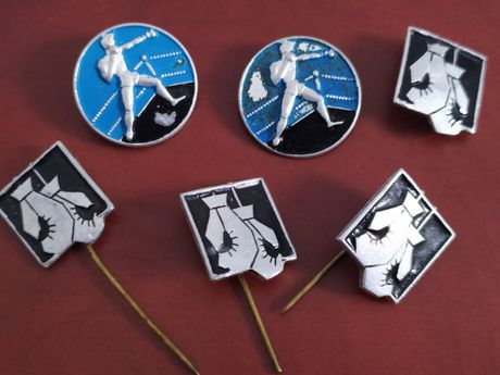 Перчатки боксерские значки бокс СССР груша бинты эластичные Тайсон Али