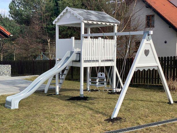 Drewniany domek ogrodowy, plac zabaw dla dzieci Wieża od Dżepetto!
