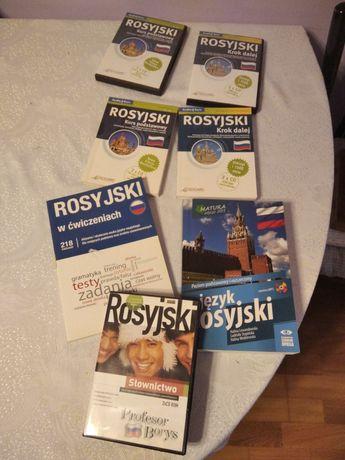 Zestaw książek i 3 plyt DVD do nauki j. rosyjskiego