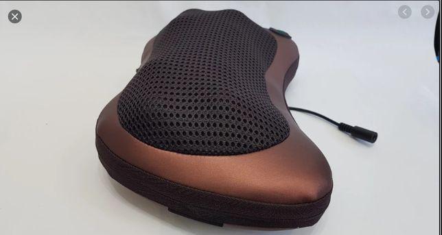 Массажная подушка 8 массажных ролика массажер для шеи и спины