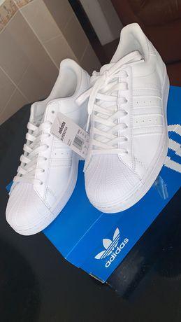 Adidas superstar all white size 10uk /45eu