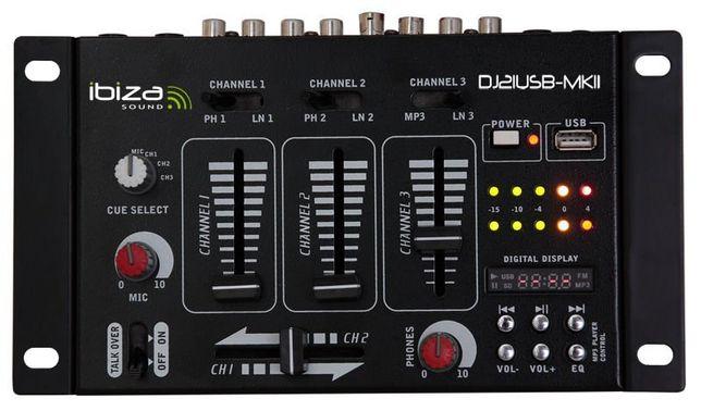 Mikser Dj / karaoke Ibiza DJ21USB-MKII 7 wejść