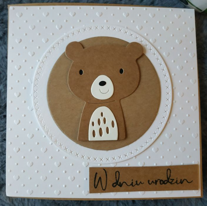 Kartka urodzinowa ręcznie robiona dla dziecka miś Łódź - image 1