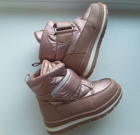 Зимние сапожки ботинки для девочки 27р