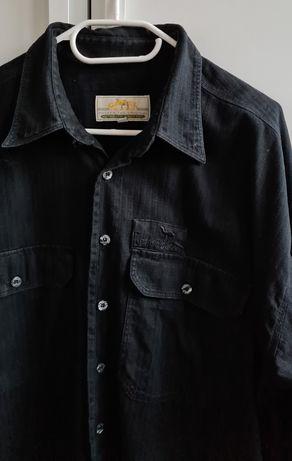 Camel Collection męska koszula XL czarna outdoor turystyka Vintage