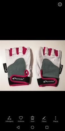 Rękawiczki skorzane treningowe Spokey, na siłownię, nowe