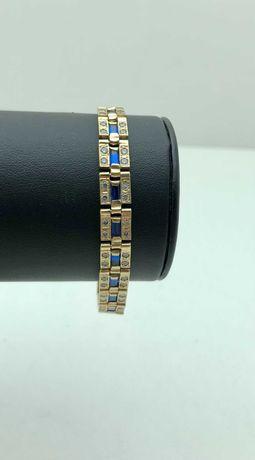 Złota przepiękna bransoletka 19,45g 585 LOM95