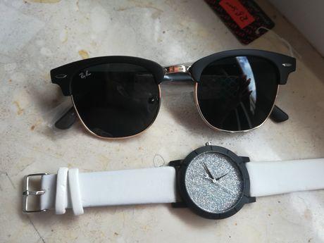 Nowe okulary przeciwsłoneczne Ray gratis zegarek