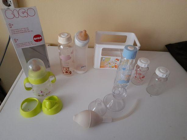 Biberões  vidro e plástico