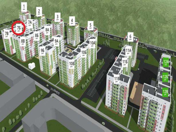 ЖК Мира-3! НЕДОРОГО продам 1 комнатную 40м квартиру+