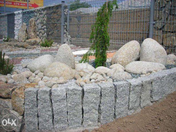 Palisada 40cm granitowa słupek granitowy kostka brukowa granitowa grys