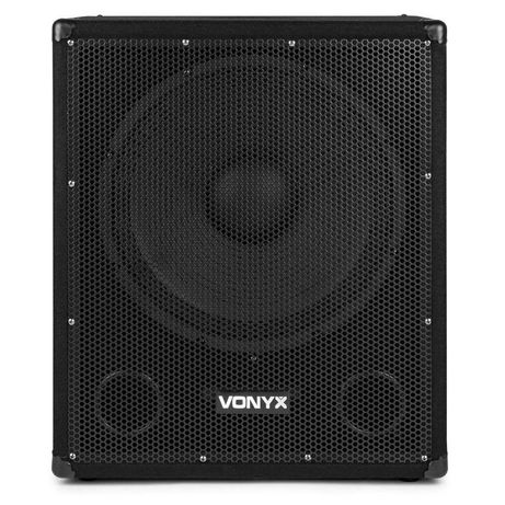 Subwoofer Bi-Amplificado 15″ 600W – 2x Speakon OUT / USB / BT – VONYX