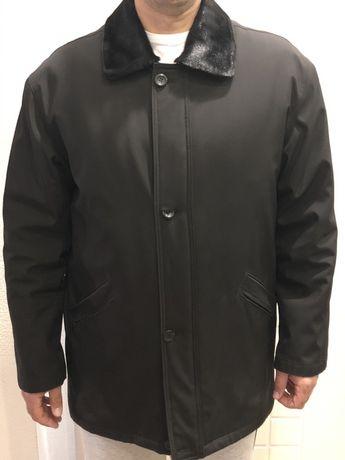 Куртка теплая с подстежкой и воротником отстегивающимся