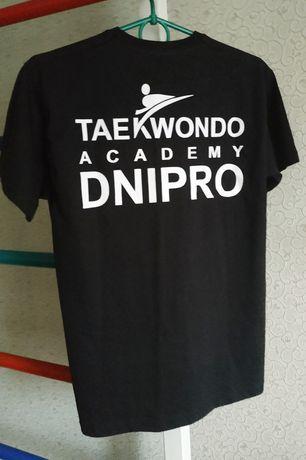 Футболка на мальчика подростка новая черная с надписью тхэквондо