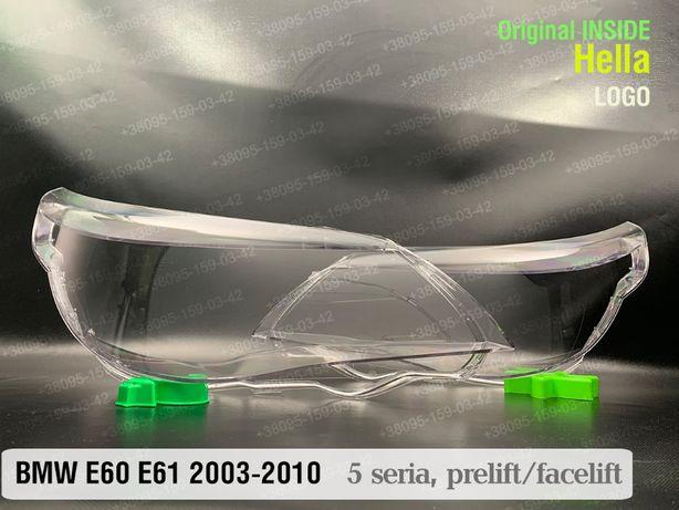 Стекла фар лого Hella BMW E60 E61 стекло фара БМВ Е60 Е61 оригинал!