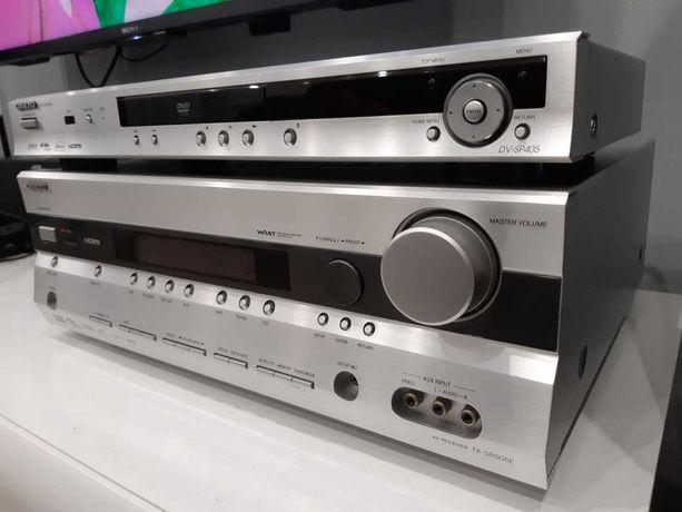 Amplituner Onkyo TX-SR505E + odtwarzacz DVD Onkyo DV-SP405 kino domowe