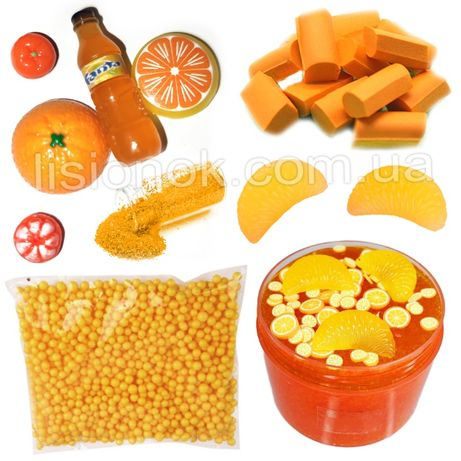 "Slime box ""Апельсиновая Фиеста"" набор добавок для слайма, шармики"