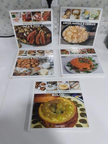 Livros de culinária: conjunto de 5 livros