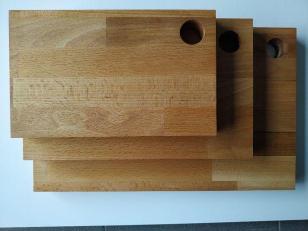 Deski kuchenne / Deski do krojenia - 3 sztuki, DĄB olejowany