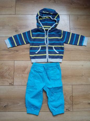 Komplet zestaw spodnie i sweterk dla chłopca rozm 74