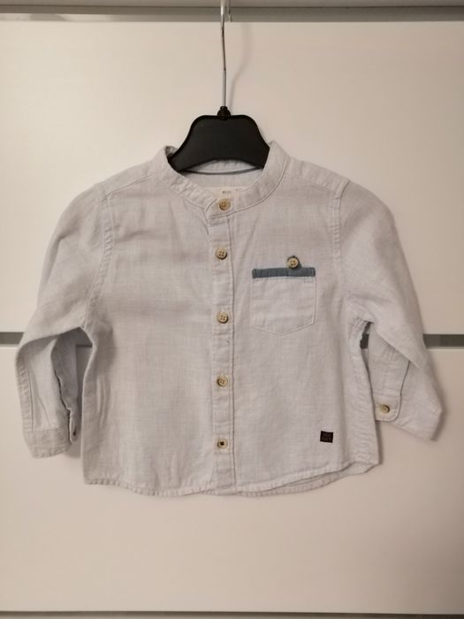 Koszula niebieska Zara 68/74 Smolec - image 1