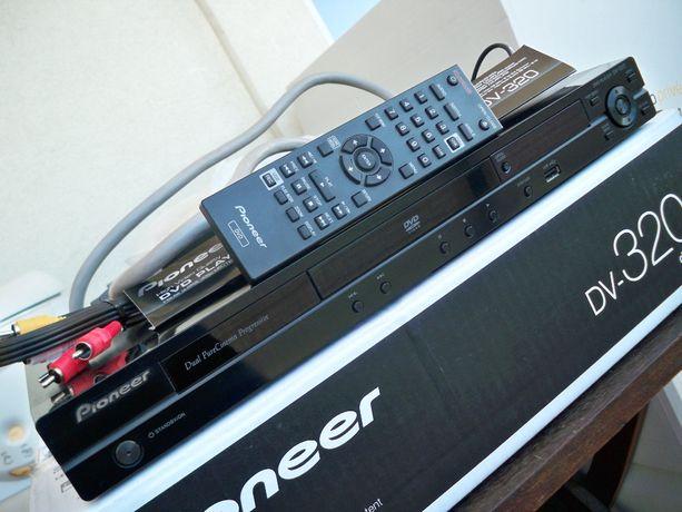 DVD Pioneer DV-320, pilot, mp3, USB, DivX, karton, 1 właściciel