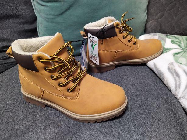 33 nowe  traperki buty ocieplane trzewiki kozaczki