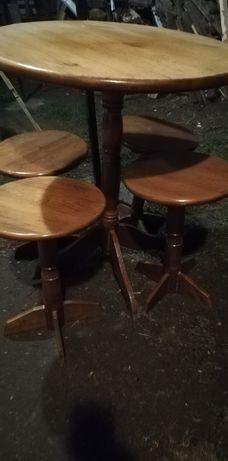 Стіл круглий і 4 табуретки, столик,
