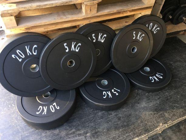 Obciążenie Olimpijskie Bumper 45cm 51mm zestaw 100kg