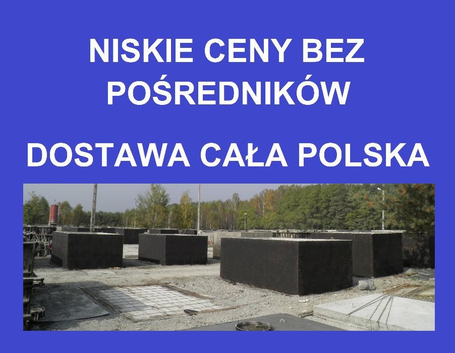 zbiorniki betonowe na deszczówkę betonowy szambo szamba 6,8,10,12,14m3 Nowy Sącz - image 1