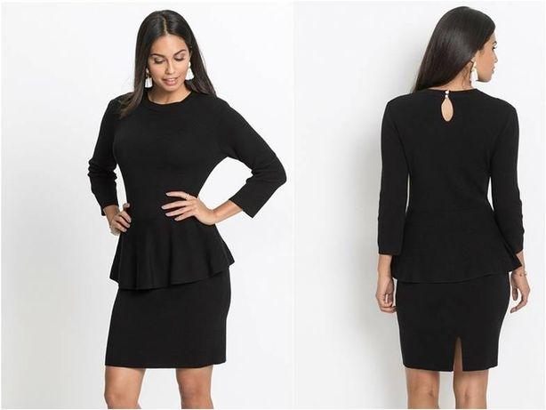 BODYFLIRT czarna dzianinowa sukienka 36/38