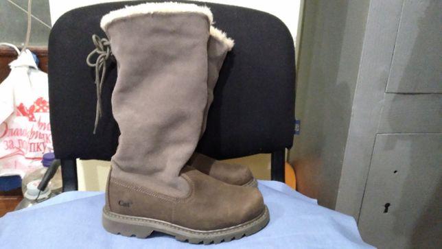 CAT footwear WOMEN'S bruiser skrunch hi fern fur trimmed BOOTS