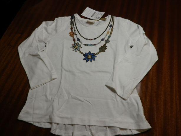 T-shirt Menina Zara 7 Anos Nova