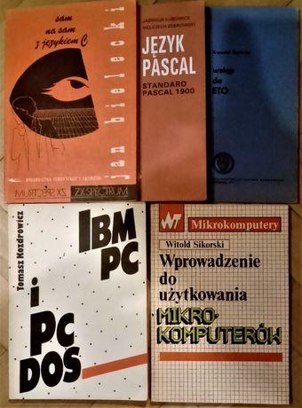 """IBM PC, Język """"C"""", Pascal, Wstęp do ETO... - 5 książek"""