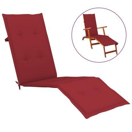 vidaXL Almofadão p/ cadeira de terraço (75+105)x50x4 cm vermelho tinto 314182