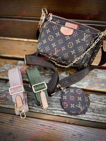 Сумка Louis Vuitton Multi Pochette 3 в 1. Сумочка Клатч Луи Виттон.