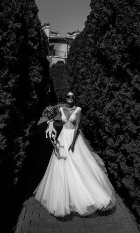 Свадебное платье Milla Nova Lizette Весільна сукня ніжна айвори фата