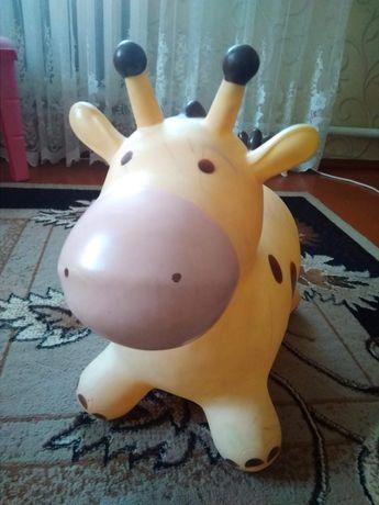 Пригун, іграшка жирафа, резиновий