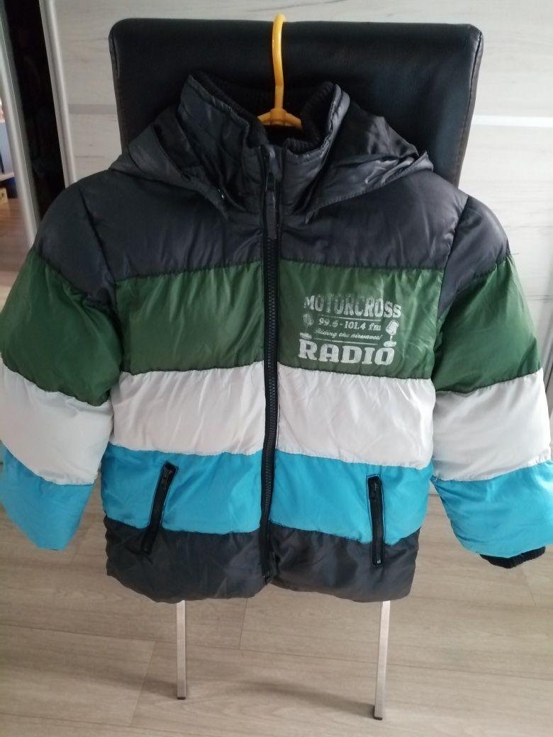 H&M gruba, ciepła kurtka 116cm