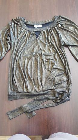 Tunika bluzka wizytowa i na imprezę czarno zlota rozmiar 42/XL