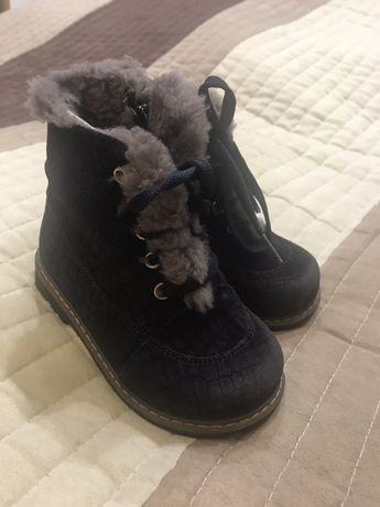 Детские зимние ботинки, размер 24
