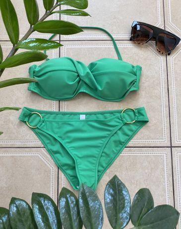 Зелёный купальник с пуш ап в стиле Victoria's Secret, размер M